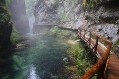 Fiume, canyon Vintgar, Triglav - Slovenia Immagine Stock Libera da Diritti