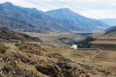 Fiume Chuya della montagna Fotografie Stock Libere da Diritti