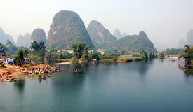 Fiume cinese Fotografie Stock Libere da Diritti