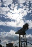Fiume Clyde, Glasgow, Scozia, Regno Unito, settembre 2013, gru di Finneston immagine stock