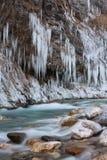 Fiume congelato Immagine Stock