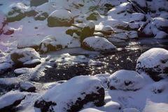 Fiume congelato Fotografia Stock Libera da Diritti