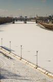 Fiume congelato di Schuylkill Fotografie Stock Libere da Diritti