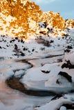 Fiume congelato in Islanda Immagini Stock