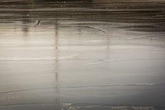 Fiume congelato nell'orario invernale, grande per fondo fotografia stock libera da diritti