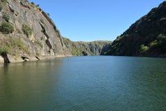 Fiume Criuse del Duero vicino a Miranda Douro Portugal Immagine Stock