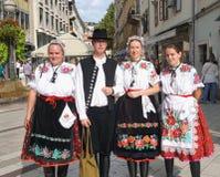 Fiume, Croacia, el 31 de agosto de 2018 Gente en trajes populares fotos de archivo