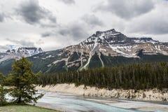 Fiume da un picco in Rocky Mountain Immagine Stock Libera da Diritti