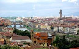 Fiume del Arno e di Firenze Fotografia Stock Libera da Diritti