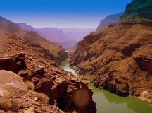 Fiume del canyon Fotografia Stock