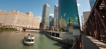 Fiume del Chicago Immagini Stock Libere da Diritti