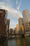 Fiume del Chicago Fotografie Stock
