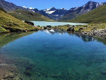 Fiume del cielo dell'acqua delle alpi del lago mountain Fotografie Stock Libere da Diritti