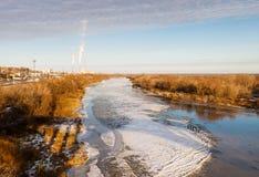 Fiume del ghiaccio Fotografie Stock
