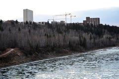 Fiume del ghiaccio di inverno immagine stock