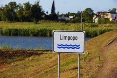 Fiume del Limpopo nel Mozambico Fotografia Stock Libera da Diritti