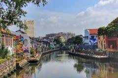 Fiume del Malacca, Malesia Fotografia Stock