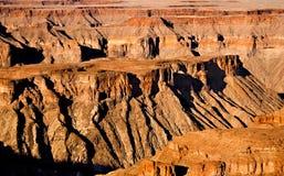 fiume del namibia dei pesci del canyon Fotografia Stock
