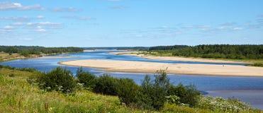 Fiume del Nord di Dvina, Arcangelo, Russia Fotografia Stock Libera da Diritti