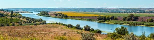 Fiume del sud dell'insetto di estate, Ucraina Fotografia Stock