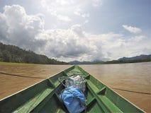 Fiume dell'Amazonas sulla canoa fotografia stock libera da diritti