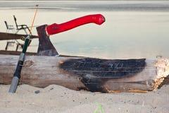 Fiume dell'attrezzatura di pesca del libro macchina dell'ascia Fotografia Stock Libera da Diritti