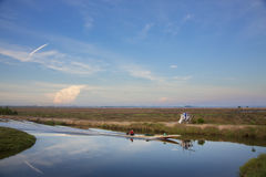 Fiume dell'incrocio del pescatore Fotografia Stock