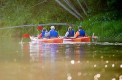 Fiume della canoa Immagine Stock