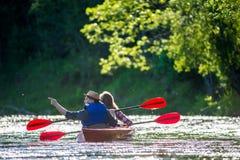 Fiume della canoa Fotografia Stock Libera da Diritti
