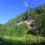Fiume della foresta, Russia Immagine Stock