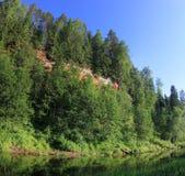 Fiume della foresta, Russia Immagine Stock Libera da Diritti