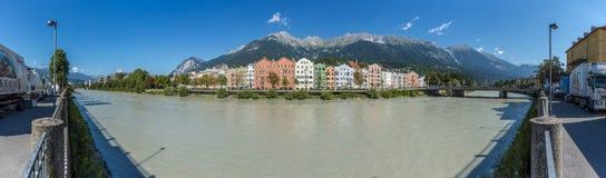 Fiume della locanda sul suo modo attraverso Innsbruck, Austria Fotografia Stock Libera da Diritti