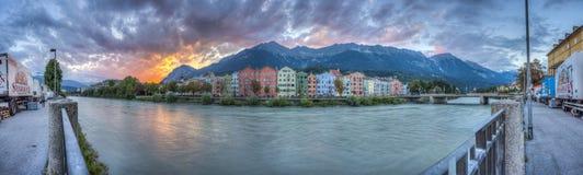 Fiume della locanda sul suo modo attraverso Innsbruck, Austria Immagine Stock Libera da Diritti