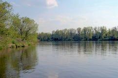 Fiume della Moldava dentro la vista dell'acqua Immagine Stock Libera da Diritti