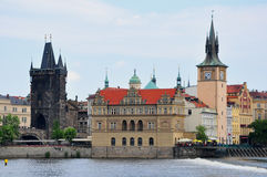 Fiume della Moldava e di Praga, repubblica Ceca Fotografia Stock Libera da Diritti