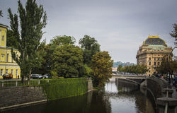 Fiume della Moldava - Praga Fotografie Stock