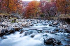 Fiume della montagna in autunno Fotografia Stock Libera da Diritti