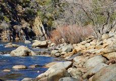 Fiume della montagna, California, Stati Uniti Fotografie Stock Libere da Diritti