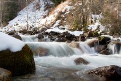 Fiume della montagna nell'inverno Immagini Stock Libere da Diritti