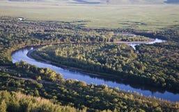fiume della palude Fotografie Stock