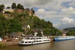 Fiume della Saar vicino a Saarburg, Germania Fotografia Stock Libera da Diritti