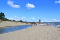 Fiume della spiaggia di estate Fotografie Stock Libere da Diritti