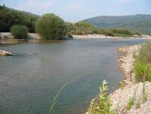 Fiume di Achelous in Acarnania e in Aetolia Grecia Fotografie Stock Libere da Diritti
