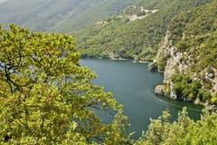 Fiume di Aliakmon alla Grecia del nord fotografie stock
