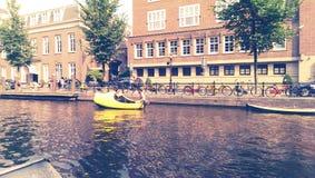 Fiume di Amsterdam Immagini Stock