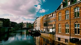 Fiume di Amsterdam Immagine Stock