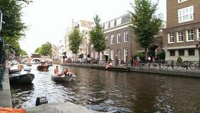 Fiume di Amsterdam di mattina Fotografia Stock Libera da Diritti