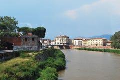 Fiume di Arno e di Pisa Immagine Stock Libera da Diritti