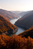 Fiume di autunno Fotografia Stock