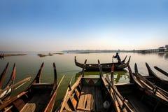 Fiume di Ayeyarwady, myanmar Fotografia Stock